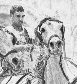 Original Pencil Drawing of a Roman Chariot Race 'Race Of Souls', currently in production.