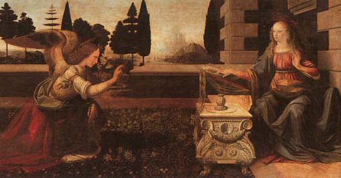 High Renaissance Master, Leonardo Da Vinci - The Annunciation