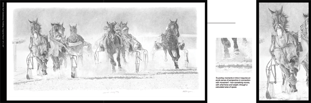 Sample of triple page for White Turf - Centenary Trotting in the Catalogue